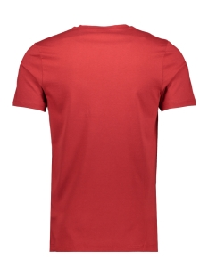 jcoboston tee ss crew neck 12156938 jack & jones t-shirt tango red/slim