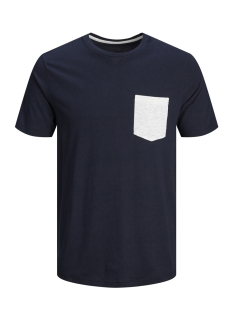 Jack & Jones T-shirt JCOBOSTON TEE SS CREW NECK 12156938 Sky Captain/SLIM