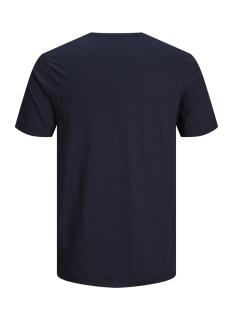 jcoboston tee ss crew neck 12156938 jack & jones t-shirt sky captain/slim