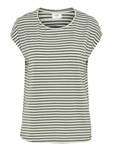Vero Moda T-shirt VMAVA PLAIN SS TOP STRIPE GA NOOS 10211785 Laurel Wreath/PRISTINE