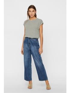 vmava plain ss top stripe ga noos 10211785 vero moda t-shirt laurel wreath/pristine