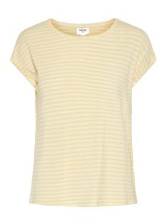 Vero Moda T-shirt VMAVA PLAIN SS TOP STRIPE GA NOOS 10211785 Mellow Yellow/PRISTINE