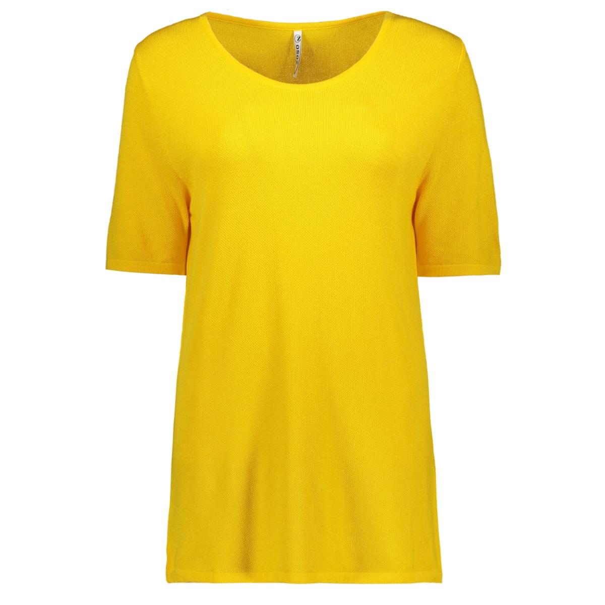 knitted top kn1911 zoso t-shirt yellow