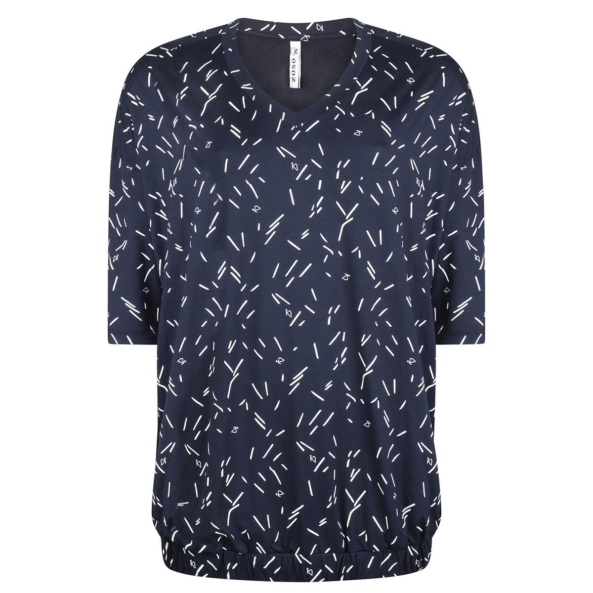 shirt with print ay1909 zoso t-shirt navy