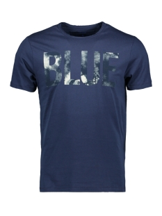Only & Sons T-shirt onsALBERT FRONT PRINT FITTED TEE EQ 22012555 Dress Blues/FLOCK PRINT