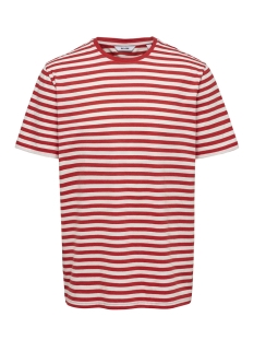 onsjamie ss stripe reg tee noos 22013203 only & sons t-shirt high risk red