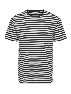 onsjamie ss stripe reg tee noos 22013203 only & sons t-shirt dark navy