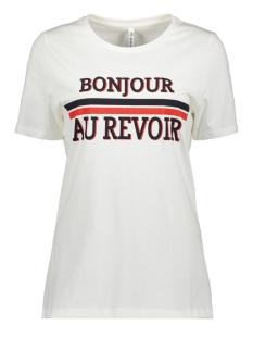 Zoso T-shirt PRINT T-SHIRT HR1931 OFF WHITE/ORANGE RED