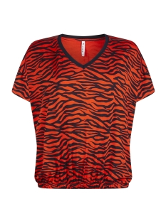 Zoso T-shirt PRINTED SHIRT AY1910 ORANGE RED/NAVY