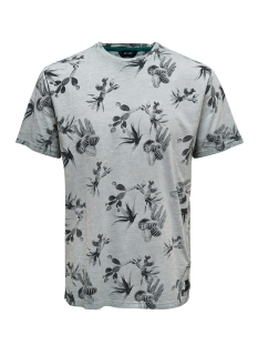 Only & Sons T-shirt onsLANCE SS REG AOP WASHED TEE 22012624 Griffin
