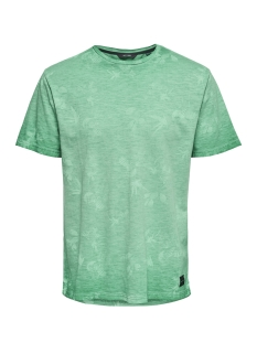 Only & Sons T-shirt onsLANCE SS REG AOP WASHED TEE 22012624 Bosphorus