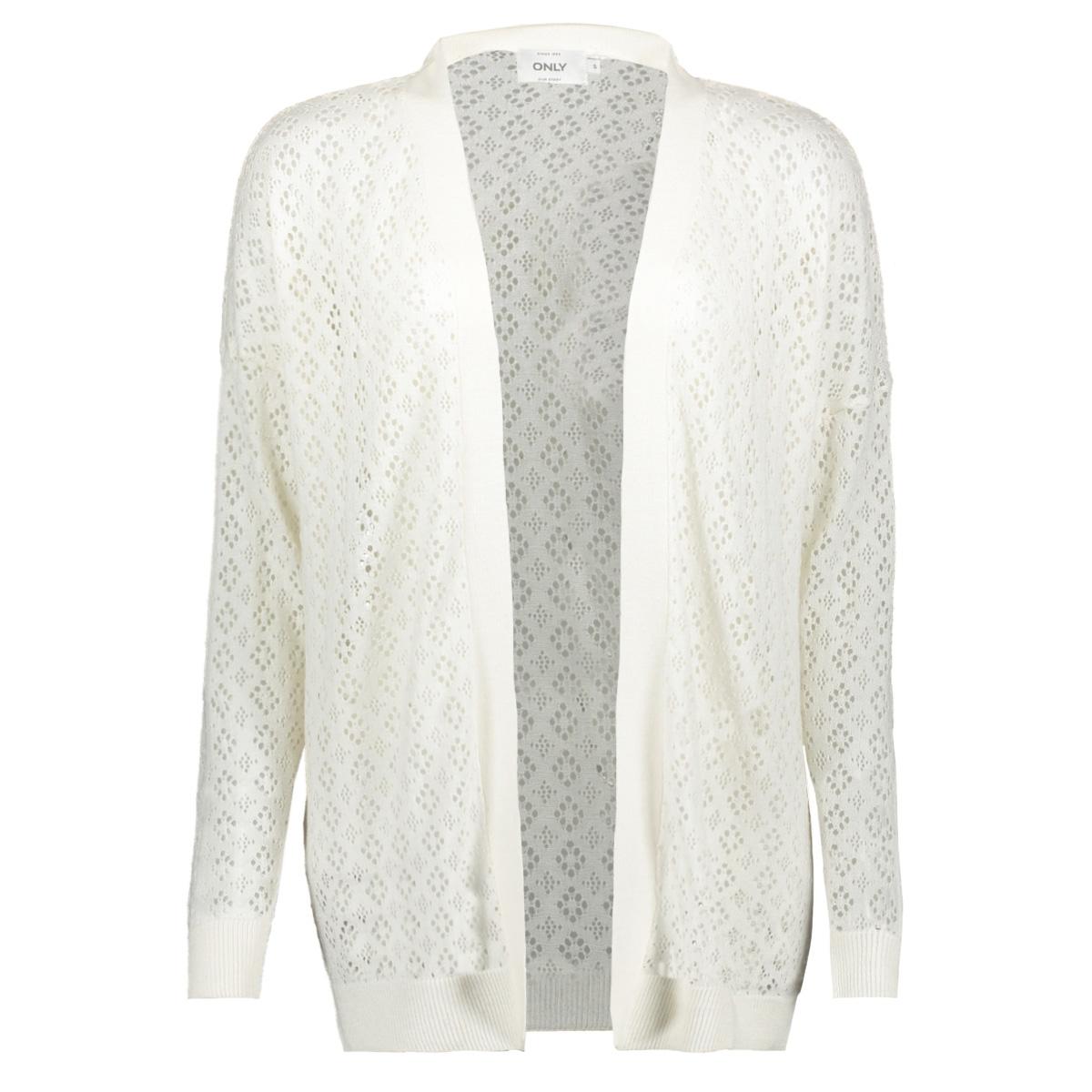 onlkylie l/s cardigan knt 15177603 only vest cloud dancer