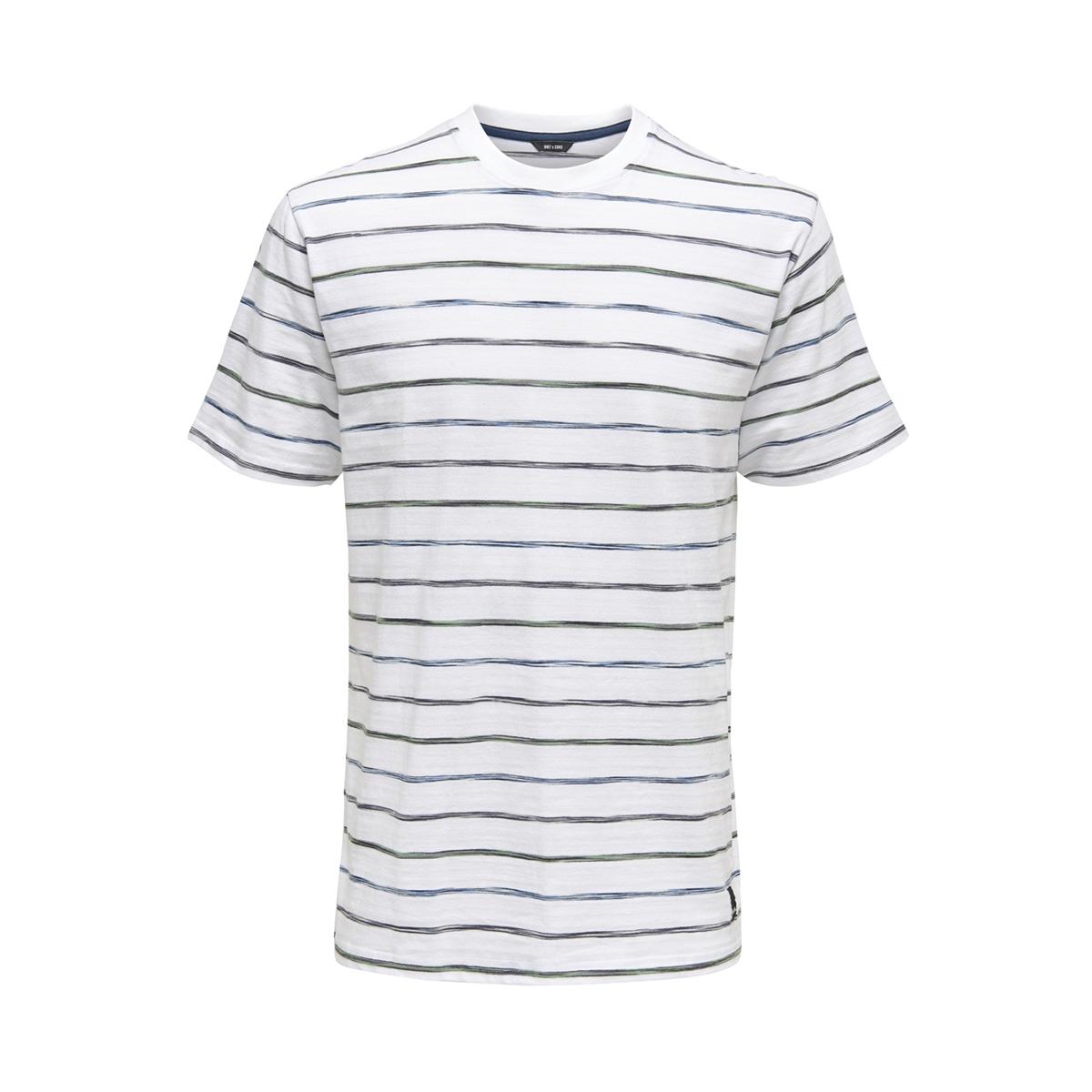 onsleonard stripe ss tee 22012613 only & sons t-shirt white