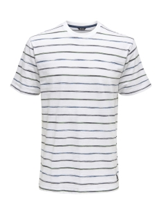 Only & Sons T-shirt onsLEONARD STRIPE SS TEE 22012613 White