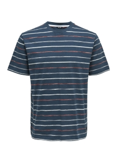 Only & Sons T-shirt onsLEONARD STRIPE SS TEE 22012613 Majolica Blue