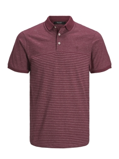 Jack & Jones Polo JPRCLEIN BLA SS POLO 12149861 Cordovan/MELANGE