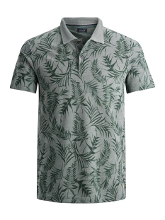 Jack & Jones Polo JPRGRAYSON BLU. POLO SS 12149300 Duck Green/FLOWER PRINT