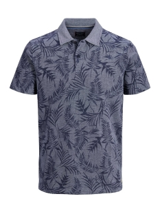 Jack & Jones Polo JPRGRAYSON BLU. POLO SS 12149300 Mood Indigo/FLOWER PRINT