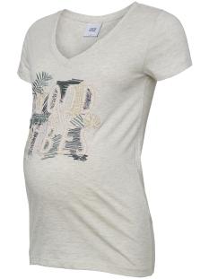 Mama-Licious Positie shirt MLTROPIC S/S JERSEY TOP A. 20009736 Light Grey Melange