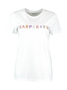 lurex tshirt ss19k323 harper & yve t-shirt off white