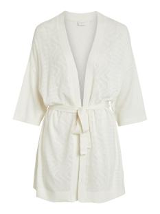 vilesly knit detail 3/4  cardigan p 14051206 vila vest white alyssum
