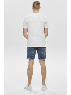 onsnext aop mix  slim tee nf 3145 22013145 only & sons t-shirt bright white