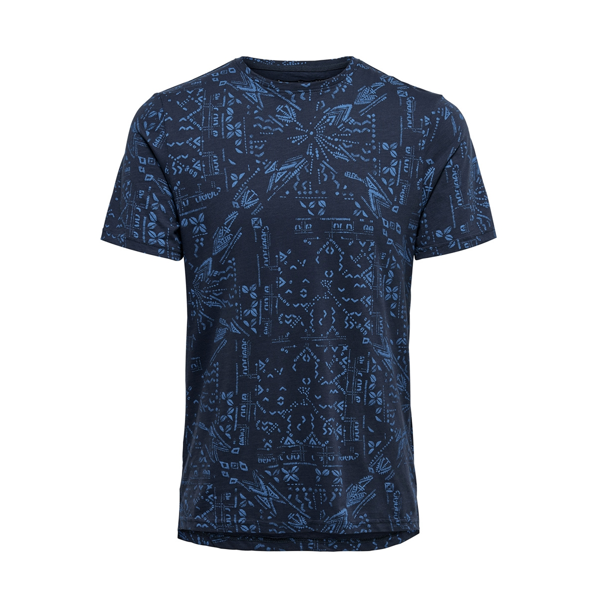 onsnext aop mix  slim tee nf 3145 22013145 only & sons t-shirt dress blues