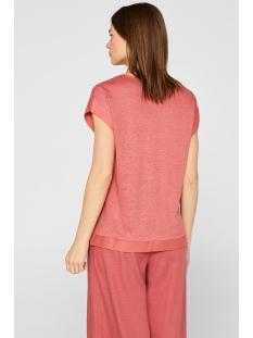 shirt met stoffen randen 049eo1k003 esprit collection t-shirt e860