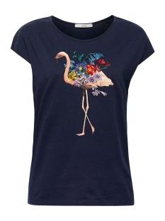 EDC T-shirt PRINTED SHIRT MET BORDUURSEL 049CC1K030 C400