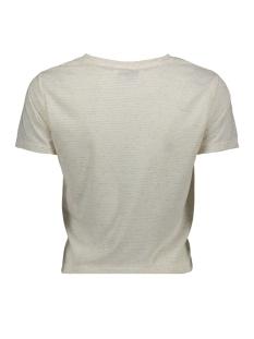 pcceda ss knot top 17097640 pieces t-shirt cloud dancer/white pepp