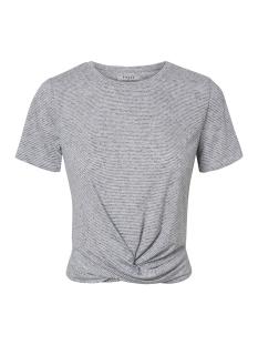 pcceda ss knot top 17097640 pieces t-shirt cloud dancer/black