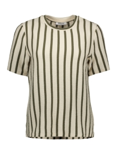 pcbora ss top pb 17094172 pieces t-shirt almond milk/olive night