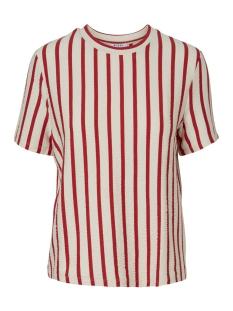pcbora ss top pb 17094172 pieces t-shirt almond milk/aura orange