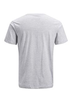 jconine ss tee crew neck 12152225 jack & jones t-shirt white melange