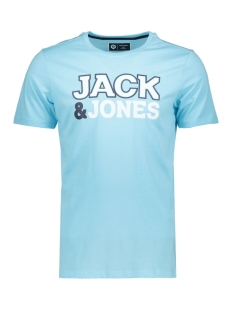 Jack & Jones T-shirt JCONINE SS TEE CREW NECK 12152225 Gulf Stream