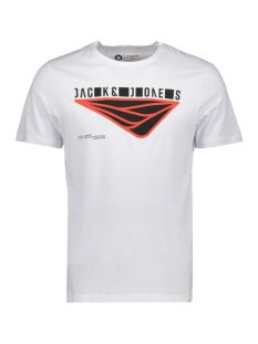 Jack & Jones T-shirt JCOBOOSTER TEE SS CREW NECK APRIL 19 12152862 White/JJ. SLIM
