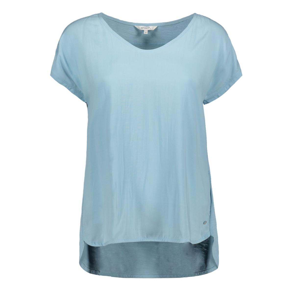 tshirt met v hals 21101704 sandwich t-shirt 41010