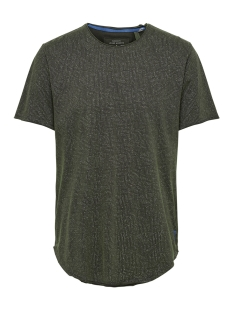 Only & Sons T-shirt onsMATT LONGY  RAW EDGE AOP EQ 3115 22013115 Phantom