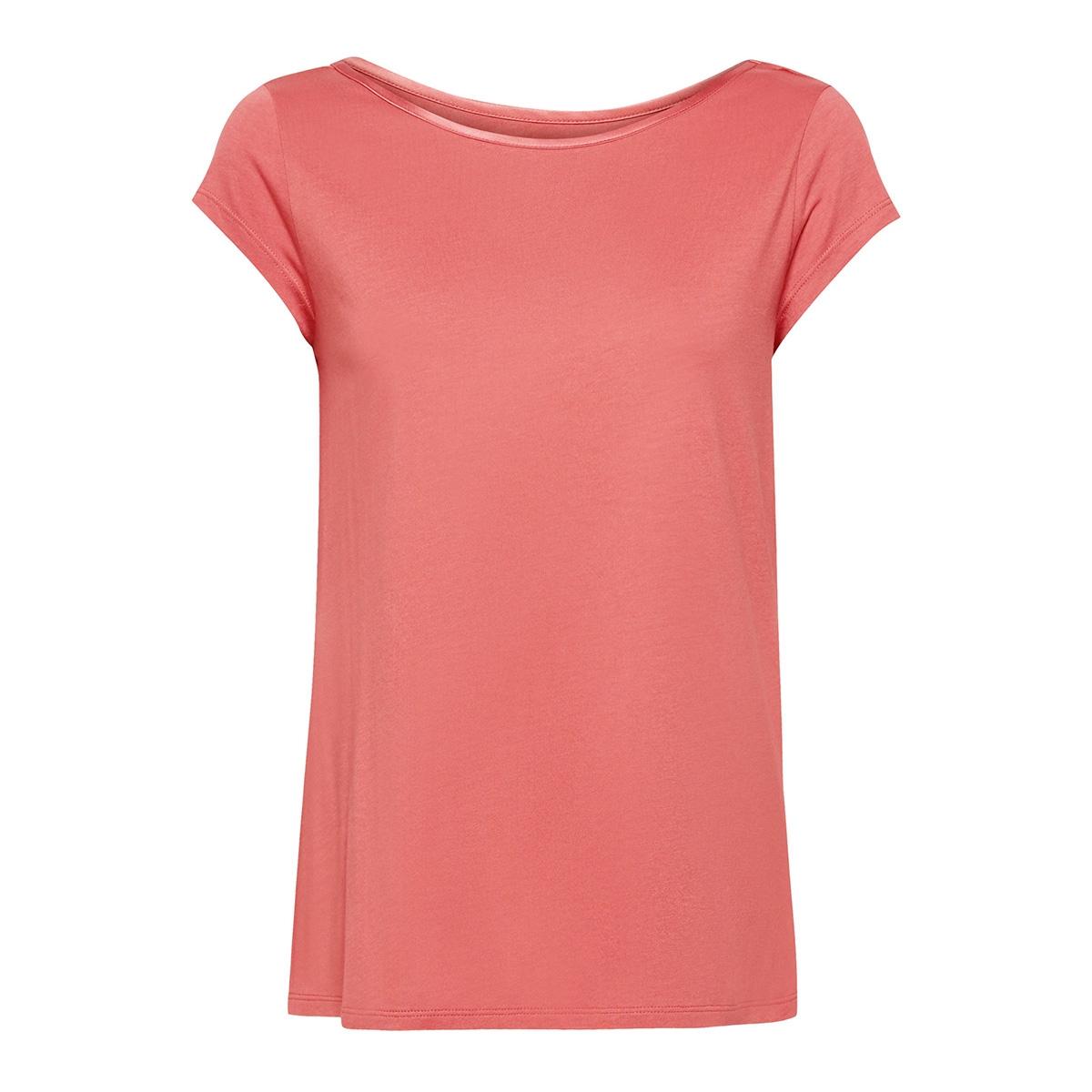 shirt met geraffineerde cut out 049eo1k001 esprit collection t-shirt e860 salmon