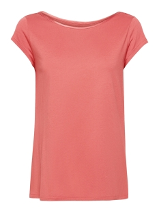 Esprit Collection T-shirt SHIRT MET GERAFFINEERDE CUT OUT 049EO1K001 E860 SALMON