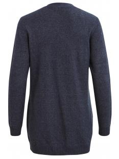 viril l/s  open knit cardigan-noos 14044041 vila vest total eclipse/melange