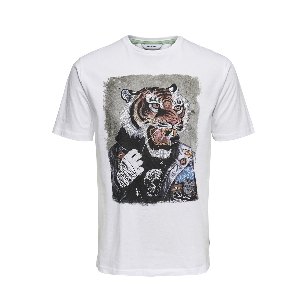 onsloris ss funny tee 22012566 only & sons t-shirt white
