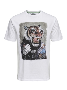Only & Sons T-shirt onsLORIS SS FUNNY TEE 22012566 White
