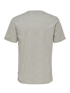 onsloris ss funny tee 22012566 only & sons t-shirt light grey melange