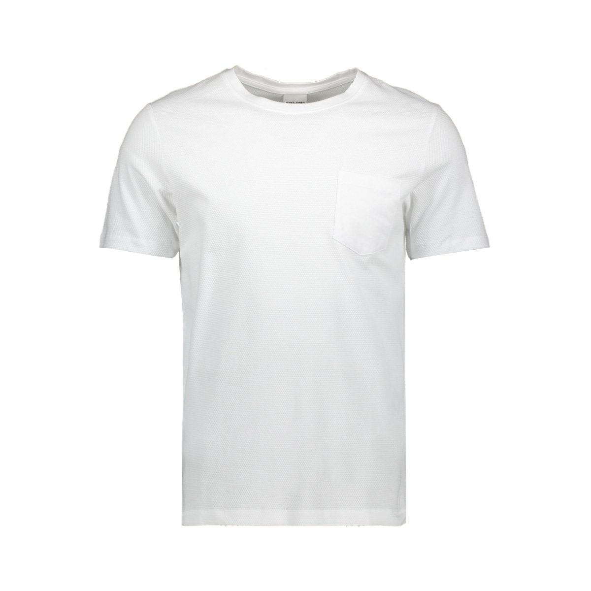jcolike tee ss crew neck 12152216 jack & jones t-shirt white/slim