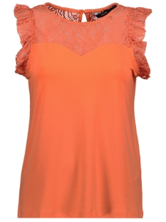 Vero Moda Top VMALBERTA SWEETHEART LACE S/L TOP 10211607 Emberglow
