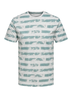 Only & Sons T-shirt onsPATRIK STRIPE SLIM TEE EQ 3191 22013191 Smoke Blue