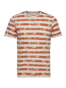 Only & Sons T-shirt onsPATRIK STRIPE SLIM TEE EQ 3191 22013191 Carnelian