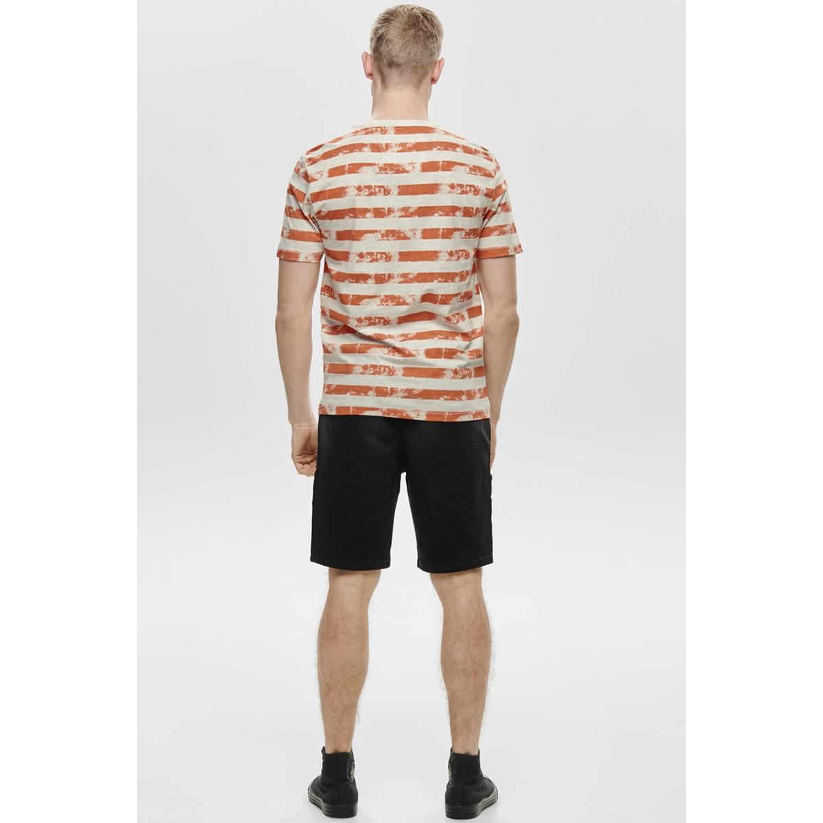 onspatrik stripe slim tee eq 3191 22013191 only & sons t-shirt carnelian