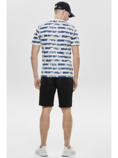 onspatrik stripe slim tee eq 3191 22013191 only & sons t-shirt true blue